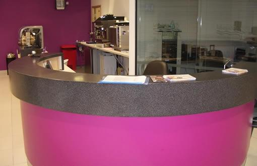 Pacy and Wheatley Retail Leisure Fit out | Gym Reception Desk